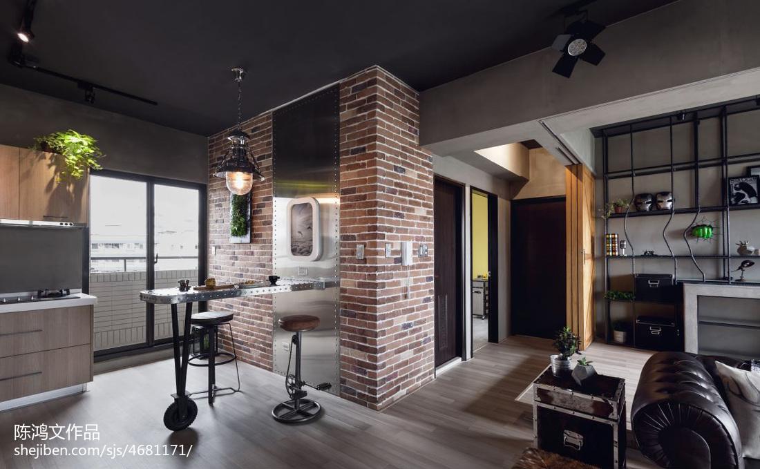 平方二居客厅混搭装修设计效果图片大全客厅2图