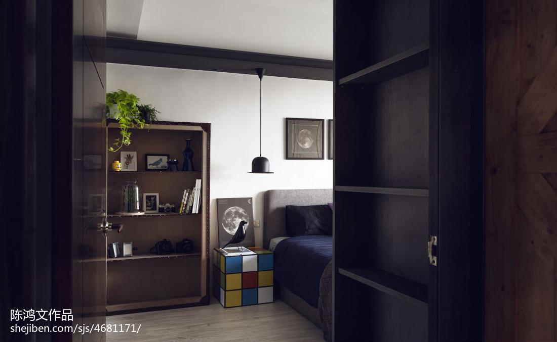 精美79平米二居卧室混搭装修设计效果图片大全卧室