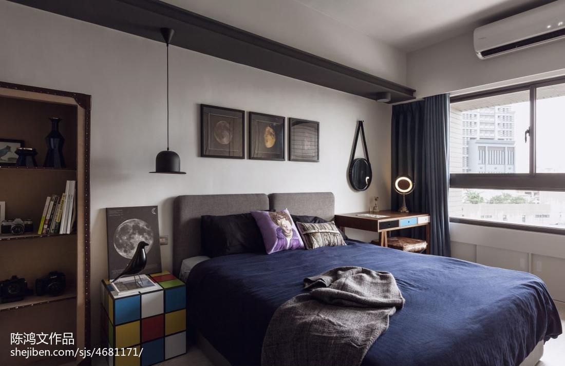 热门83平米二居卧室混搭装修效果图卧室