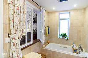 简洁88平美式三居卫生间装修美图卫生间美式经典设计图片赏析