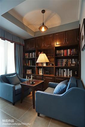 精选三居书房美式装修实景图片