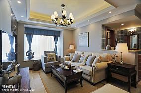 精选面积97平美式三居客厅装饰图片欣赏