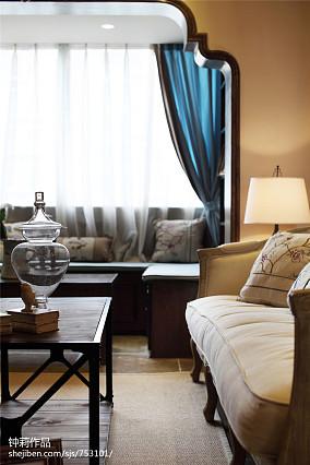 精选面积82平田园二居客厅装修设计效果图片