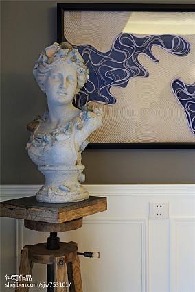 精选141平米四居客厅美式装饰图