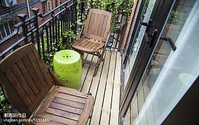 热门78平米混搭小户型阳台装修图片
