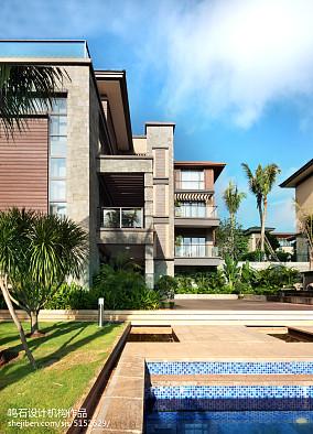 精选131平米中式别墅花园装饰图片别墅豪宅中式现代家装装修案例效果图