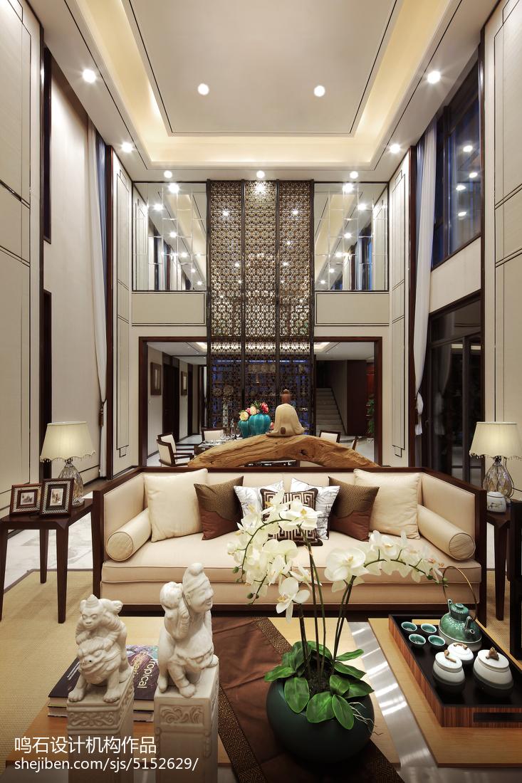 热门面积140平别墅客厅中式装修设计效果图片欣赏客厅中式现代客厅设计图片赏析