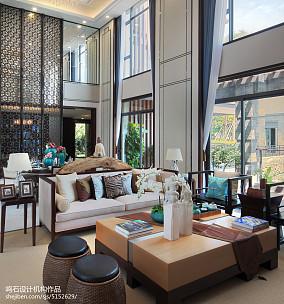 大气934平中式别墅装饰图片别墅豪宅中式现代家装装修案例效果图