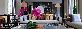 热门面积137平别墅客厅中式装修设计效果图别墅豪宅中式现代家装装修案例效果图