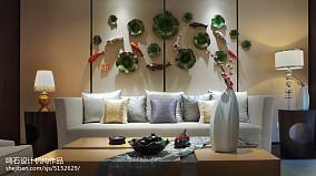 精选112平米中式别墅客厅装修实景图片大全别墅豪宅中式现代家装装修案例效果图