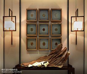 优美338平中式别墅客厅效果图欣赏别墅豪宅中式现代家装装修案例效果图