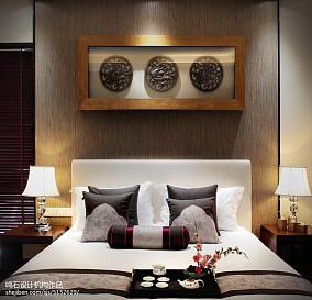2018大小128平别墅卧室中式欣赏图别墅豪宅中式现代家装装修案例效果图