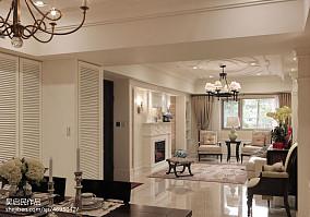 精美103平方三居餐厅美式装修图片欣赏三居美式经典家装装修案例效果图