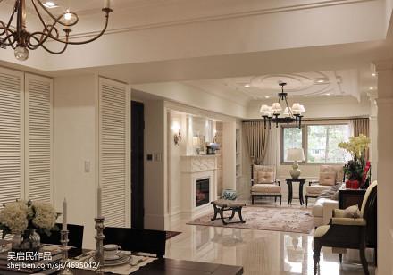 精美103平方三居餐厅美式装修图片欣赏