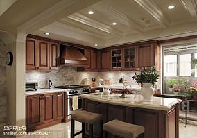 美式风格厨房装修效果图图片欣赏三居美式经典家装装修案例效果图