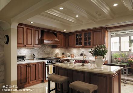 美式风格厨房装修效果图图片欣赏
