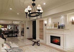 精选大小103平美式三居客厅装修实景图三居美式经典家装装修案例效果图
