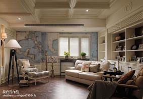 2018精选102平米三居卧室美式装修图片三居美式经典家装装修案例效果图