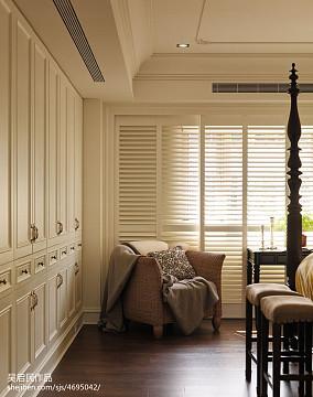 平米三居卧室美式装修设计效果图三居美式经典家装装修案例效果图