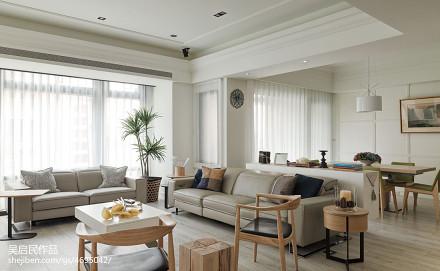 2018精选面积91平美式三居客厅装修效果图客厅