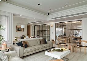 热门104平米三居客厅美式实景图片大全