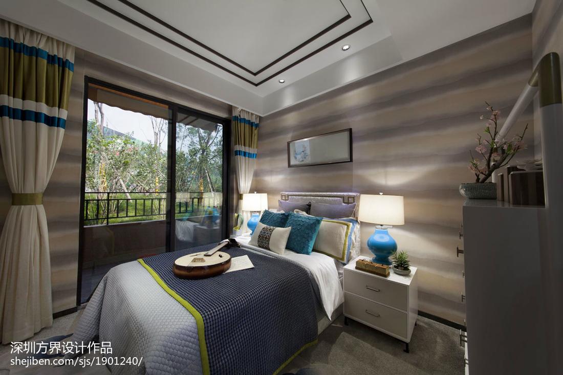 客厅卧室壁纸效果图汇总卧室中式现代卧室设计图片赏析
