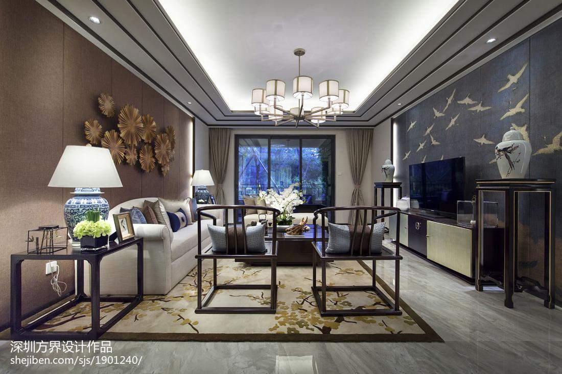 【公司新作|实景图】江南印象,中式风格客厅中式现代客厅设计图片赏析