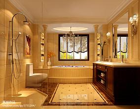 热门面积136平别墅卫生间新古典装修欣赏图片大全
