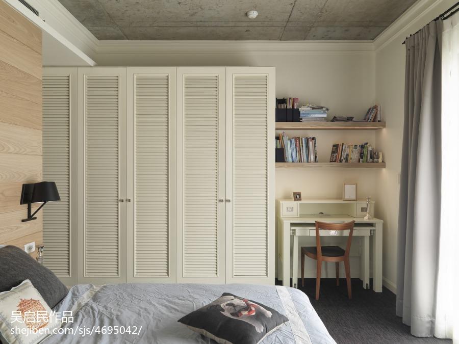 精选105平方三居卧室混搭设计效果图卧室