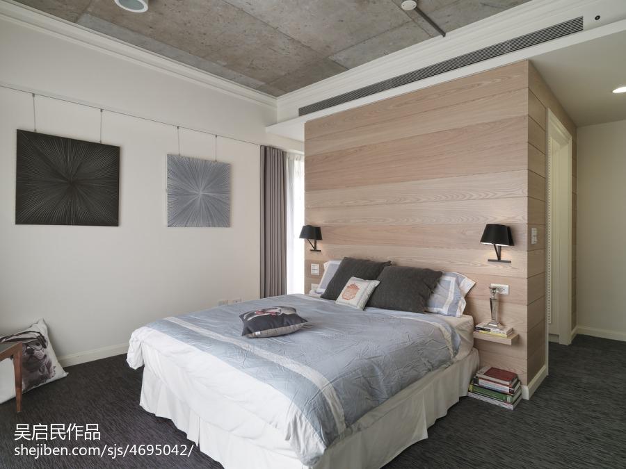 2018精选98平米三居卧室混搭装修实景图片卧室