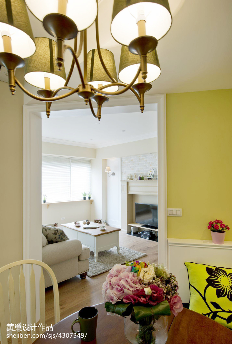 热门混搭3室客厅装修效果图片大全91平客厅