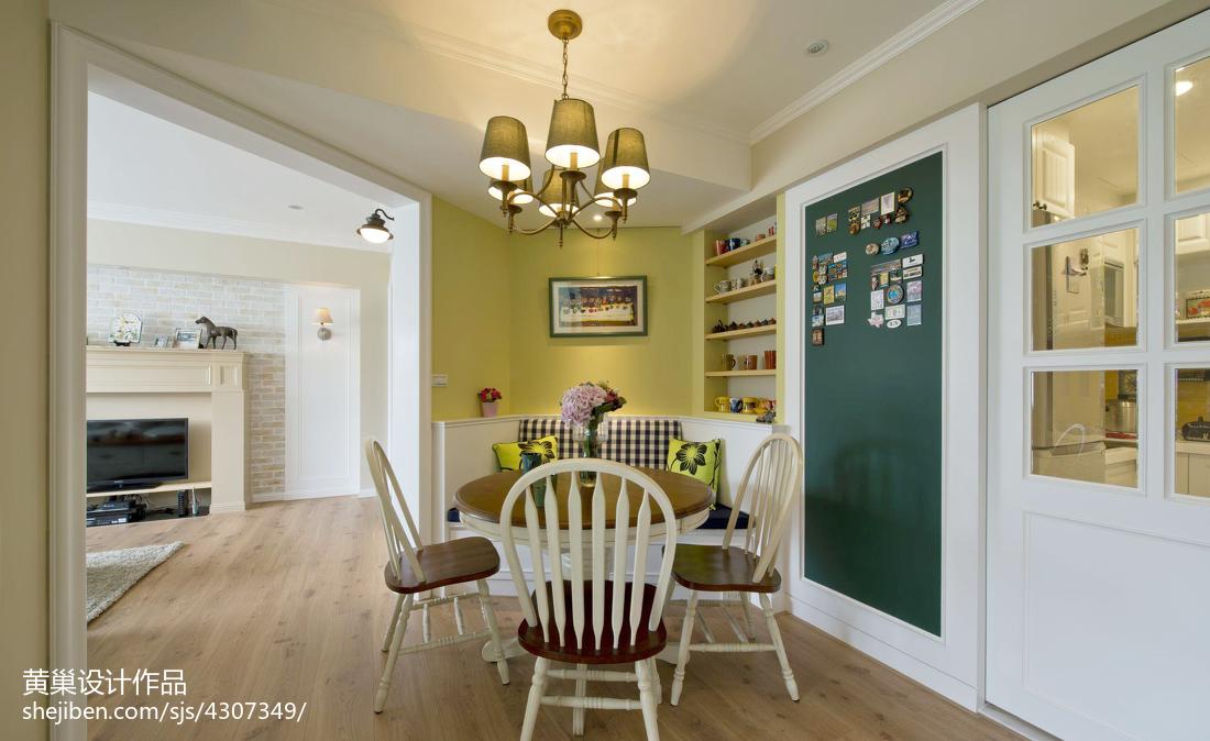 田园乡村餐厅背景墙设计效果图厨房木地板2图潮流混搭餐厅设计图片赏析