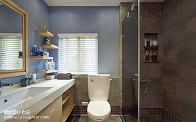 精美面积103平美式三居卫生间装修实景图