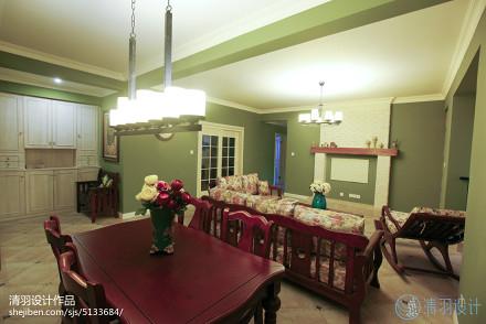 平米三居客厅美式装修效果图片大全客厅