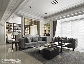 简洁264平欧式样板间装饰图样板间欧式豪华家装装修案例效果图