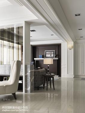 典雅322平欧式样板间过道效果图欣赏样板间欧式豪华家装装修案例效果图