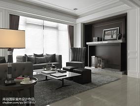 2018欧式客厅装修实景图样板间欧式豪华家装装修案例效果图