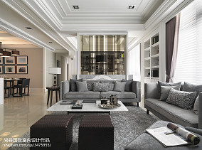2018精选欧式客厅装修图片样板间欧式豪华家装装修案例效果图