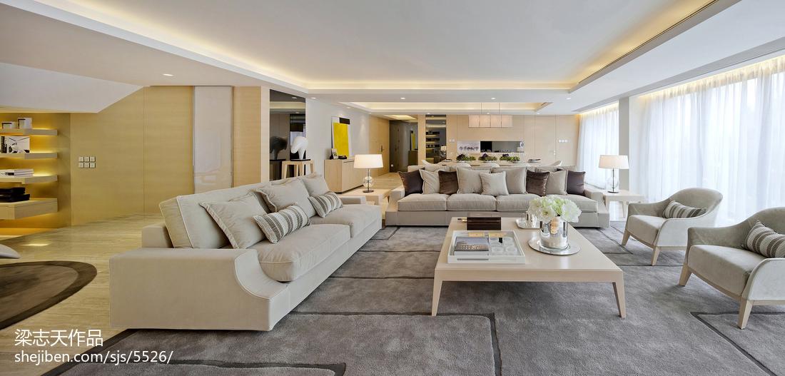 混搭风格客厅样板房图片大全客厅潮流混搭客厅设计图片赏析