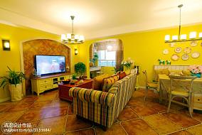 面积109平地中海三居客厅设计效果图