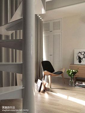 热门110平米混搭复式客厅装饰图片