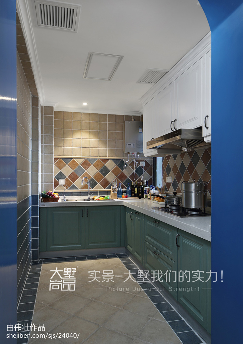 2018地中海厨房装饰图片餐厅地中海厨房设计图片赏析