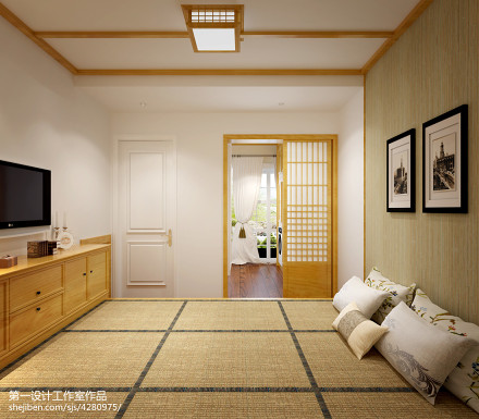 精选91平米三居卧室美式装修欣赏图片大全