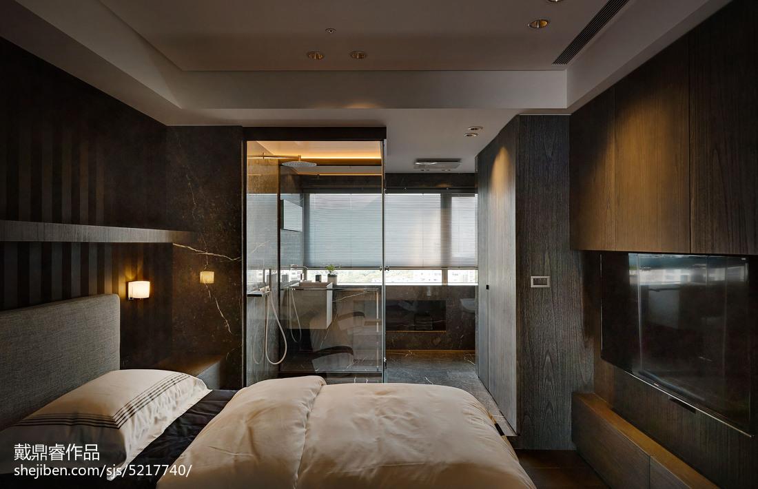 三居室混搭卧室隔断设计