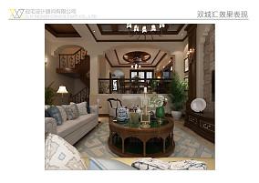质朴230平美式别墅客厅案例图