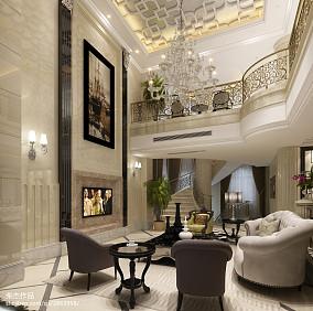 精美113平米新古典别墅客厅装饰图