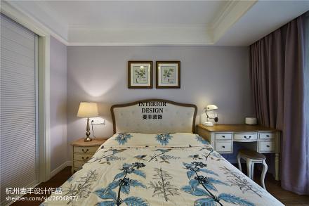 简约美式卧室背景墙装修卧室