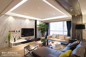 简约现代客厅吊顶效果图