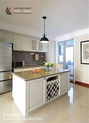 精选100平米三居厨房美式效果图
