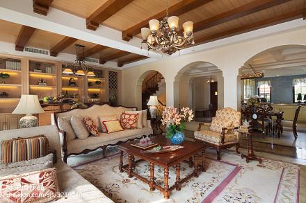简洁350平美式别墅装修图片别墅豪宅美式经典家装装修案例效果图